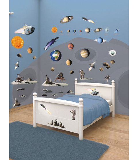 Walltastic Space Adventure Room Decor Wall Sticker Kit