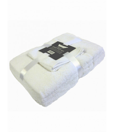 White 6 Piece Cotton Bath Towel Bale Set