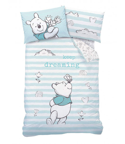 Winnie the Pooh Butterfly Single Duvet Cover Set