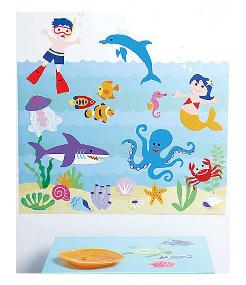 Wallies Wall Play Olive Kids Seaquarium Stickers