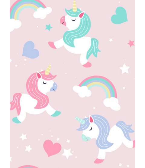 Believe in Unicorns Wallpaper Pink World of Wallpaper A365 CAO 1