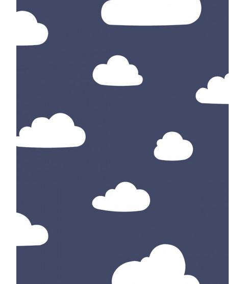 Nuages Papier Peint Marine / Blanc Monde du Papier Peint A618 CAO 4