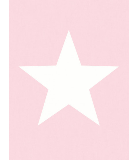 Star Wallpaper White on Pink - World of Wallpaper 273488