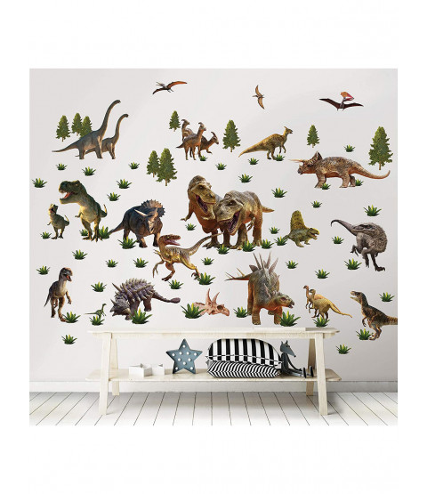 Walltastic Dinosaur Room Decor Wall Sticker Kit