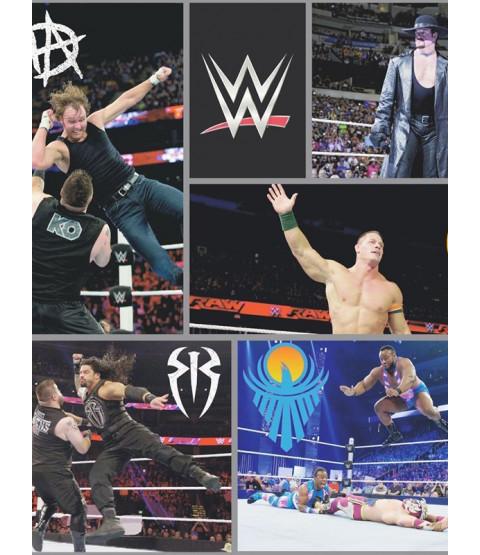 Papier peint de lutte WWE noir WP4-WWE-BLK-12