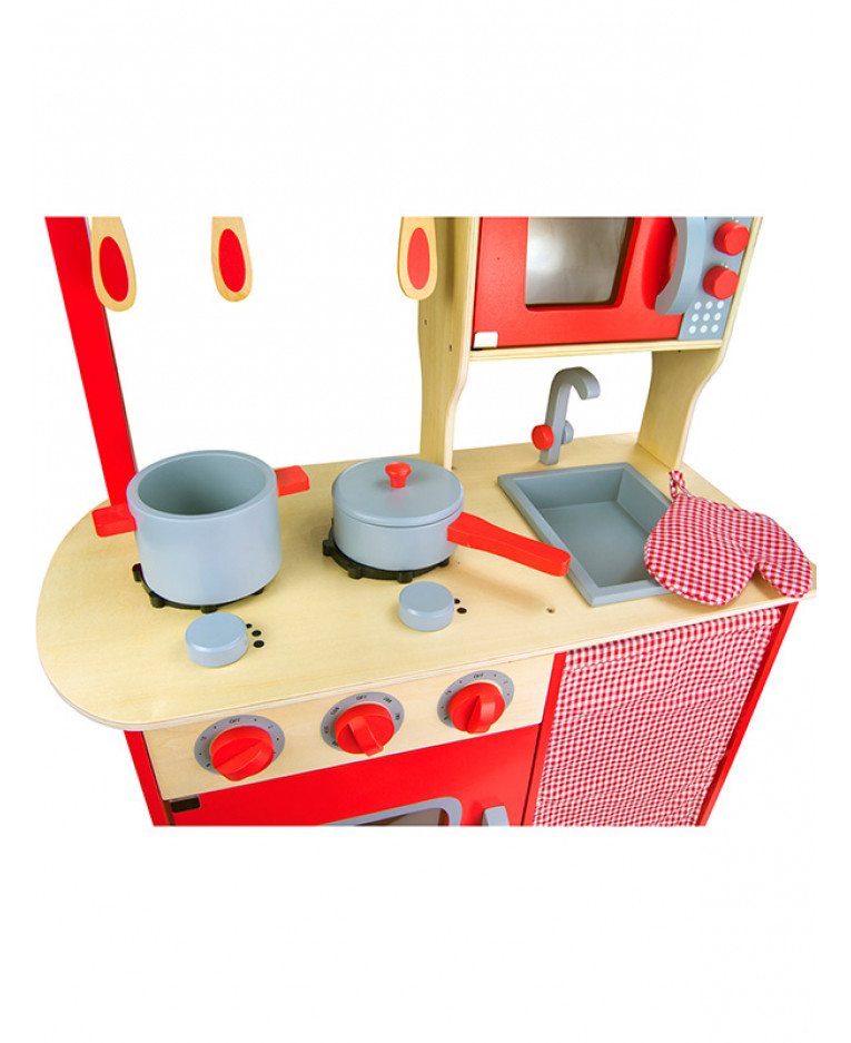 Wooden Kitchen Accessories ~ Kitchen chef kids wooden role play toy with accessories
