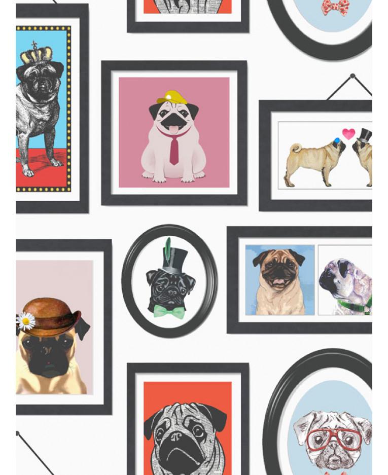 A Pug 39 S Life Pug Frames Wallpaper 11360