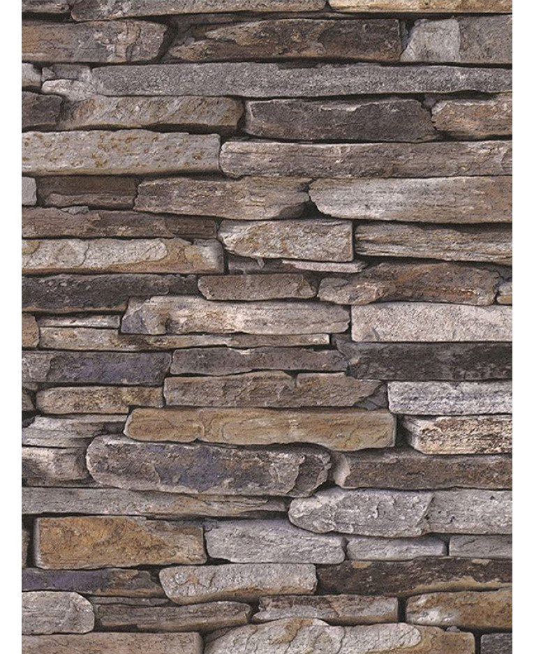 Natural Stone Slate Effect Wallpaper