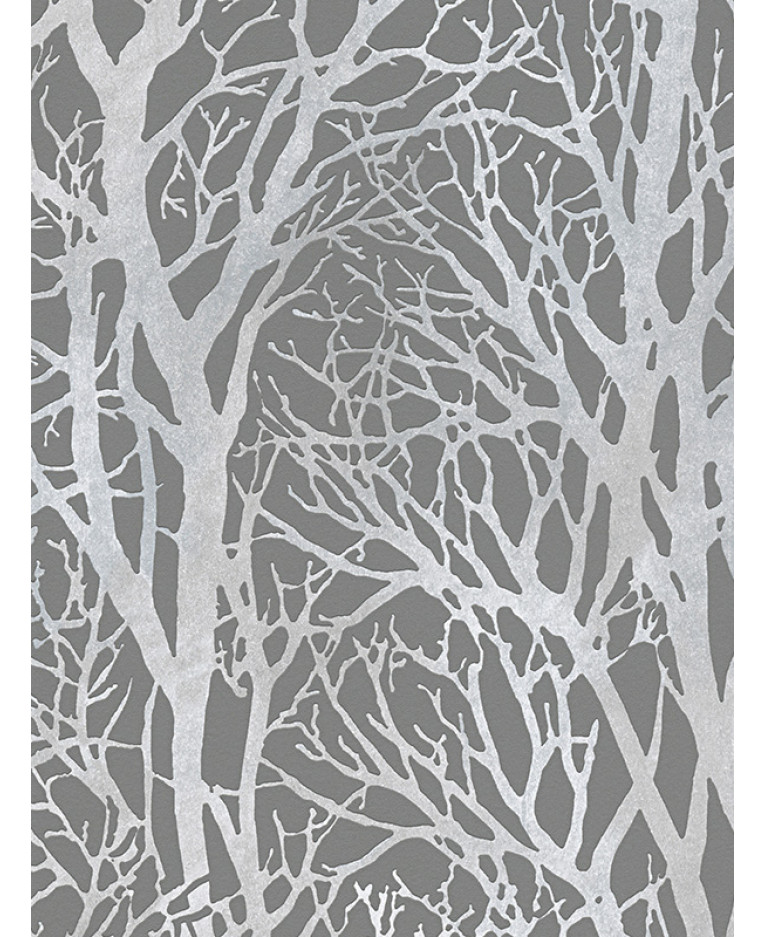 Tree branches wallpaper dark grey and silver as creation 30094 3