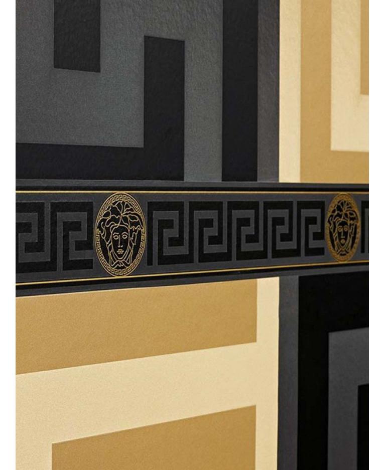 Versace Greek Key Border Black 935224 Decor