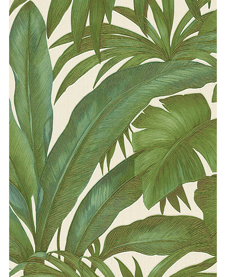 Versace Giungla Palm Leaves Wallpaper   Green And Cream   10m X 70cm 96240 5