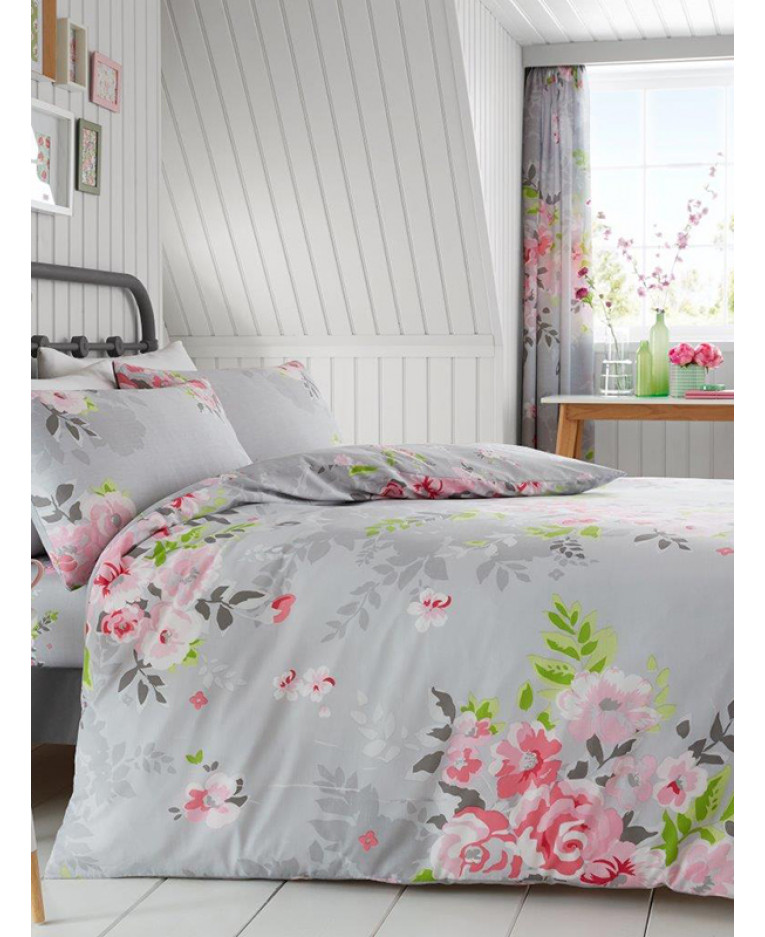 catherine lansfield blue charlies duvet zoom direct floral banbury cover set loading