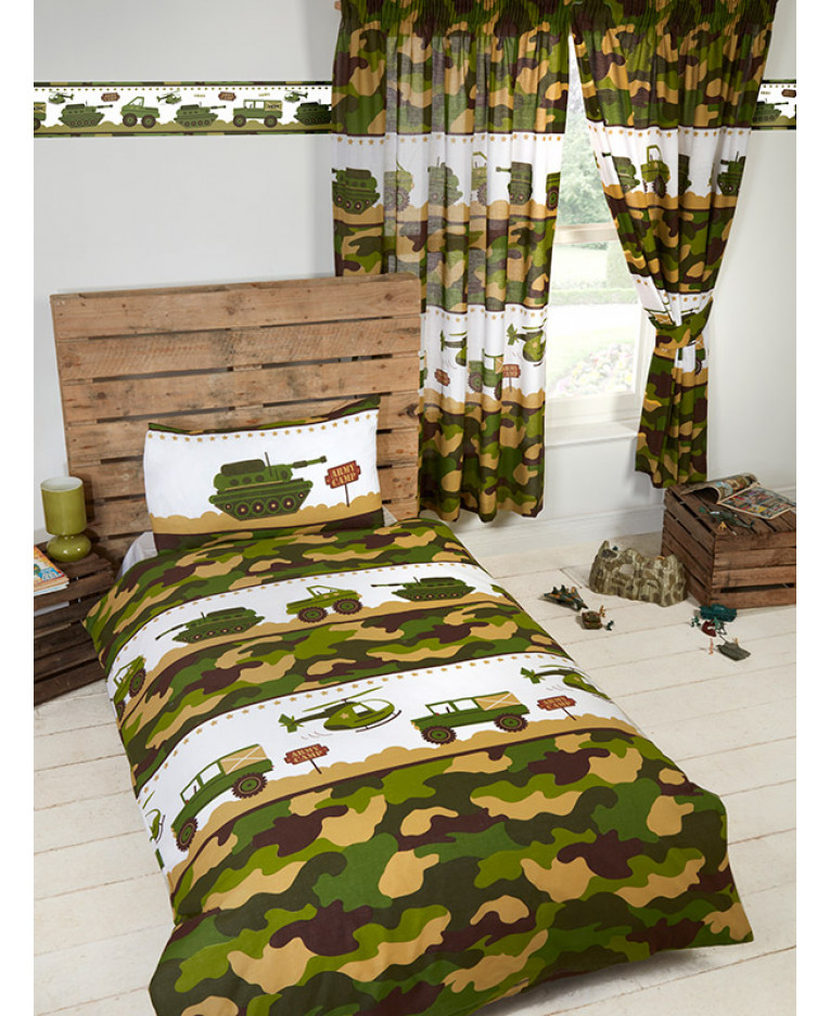 Price Right Home Army Camp Wallpaper Border