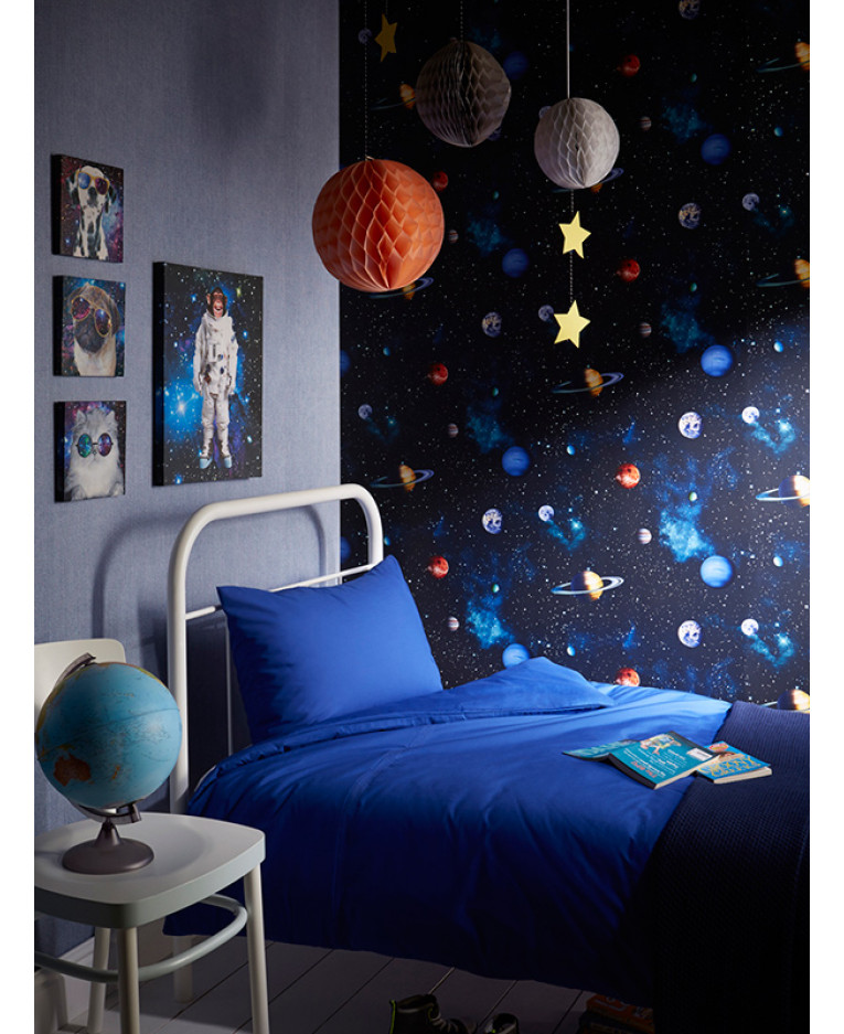 Cosmos space wallpaper charcoal arthouse 668100 kids for Space wallpaper bedroom