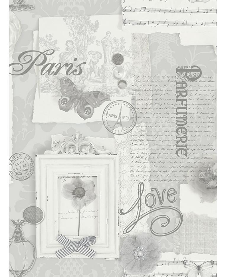 Felicity Paris Wallpaper Grey 665401 Arthouse