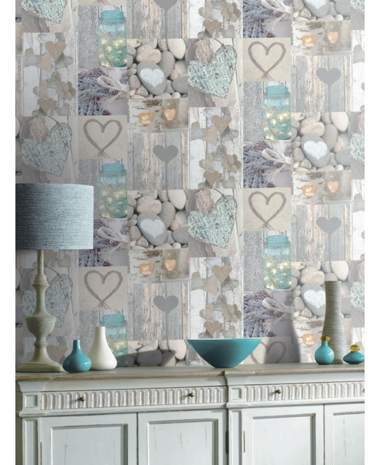 Arthouse Rustic Heart Wallpaper