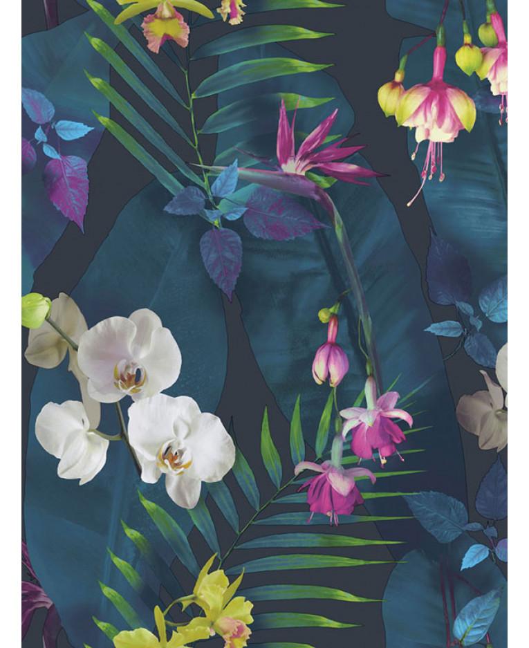 Tropics Pindorama Floral Wallpaper Navy Arthouse 690101