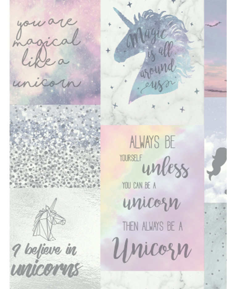 Believe In Unicorns Glitter Wallpaper Arthouse 698300
