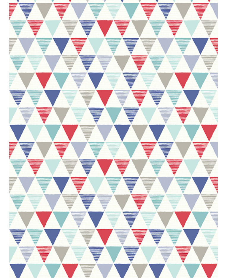 Jester Geometric Wallpaper Bright Red Blue Arthouse 696007