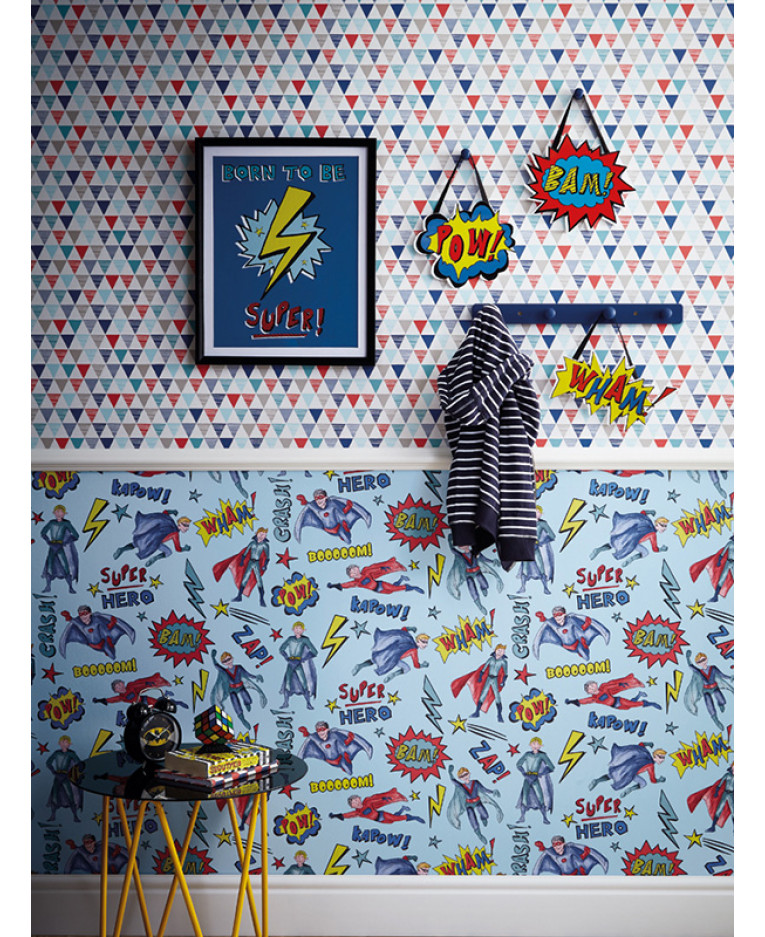 Superhero Wallpaper Blue Arthouse 696200 | Feature | Comic ...