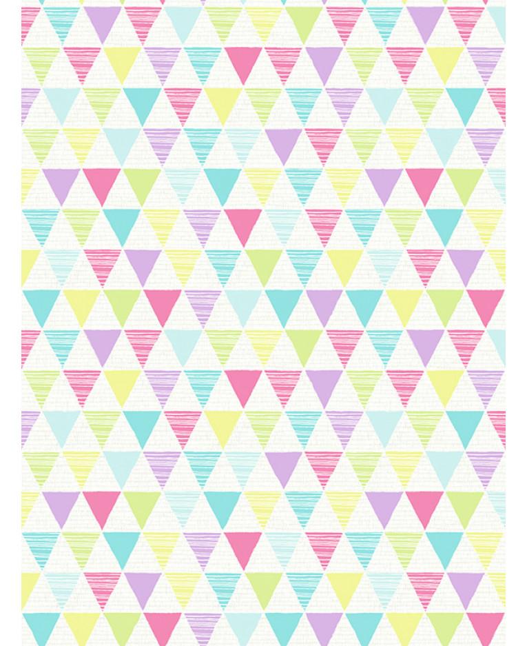 Jester Geometric Wallpaper Bright Multi Arthouse 696005