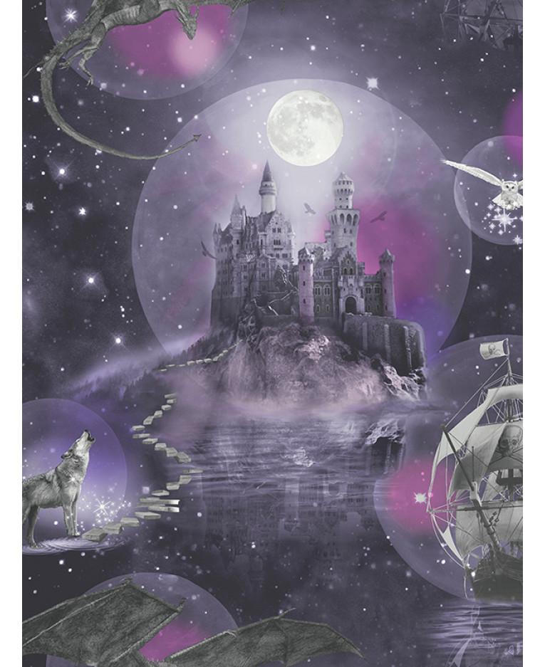 Magical Kingdom Wallpaper Purple Arthouse 696101 Fantasy
