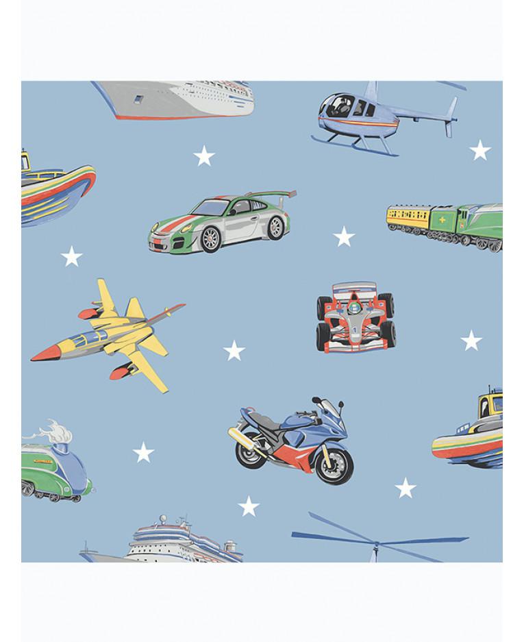 Zoom Away Vehicles Wallpaper Arthouse Cars Motorbike Boys