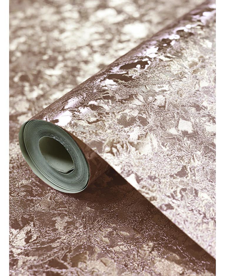 Arthouse Velvet Crush Foil Wallpaper Rose Gold 294300