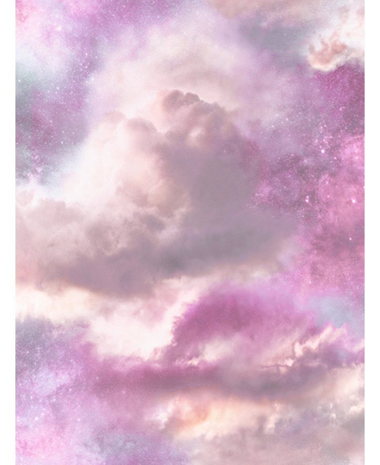 Diamond Galaxy Cloud Glitter Wallpaper Purple And Pink
