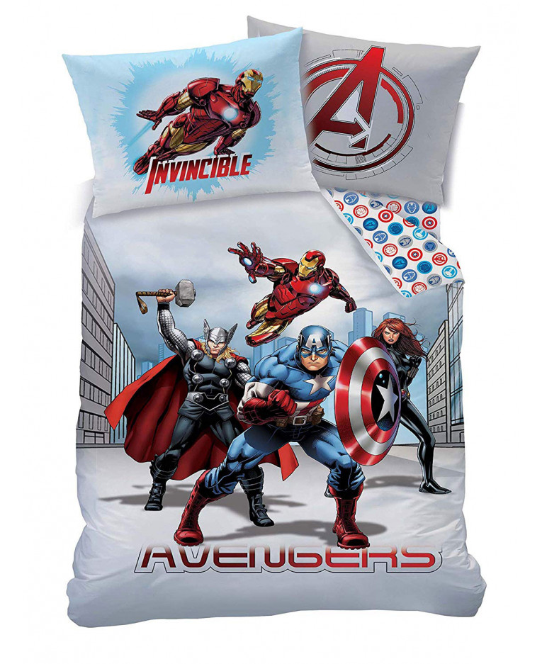 Copripiumino Singolo Avengers.Marvel Avengers Set Copripiumino E Federa Singola City