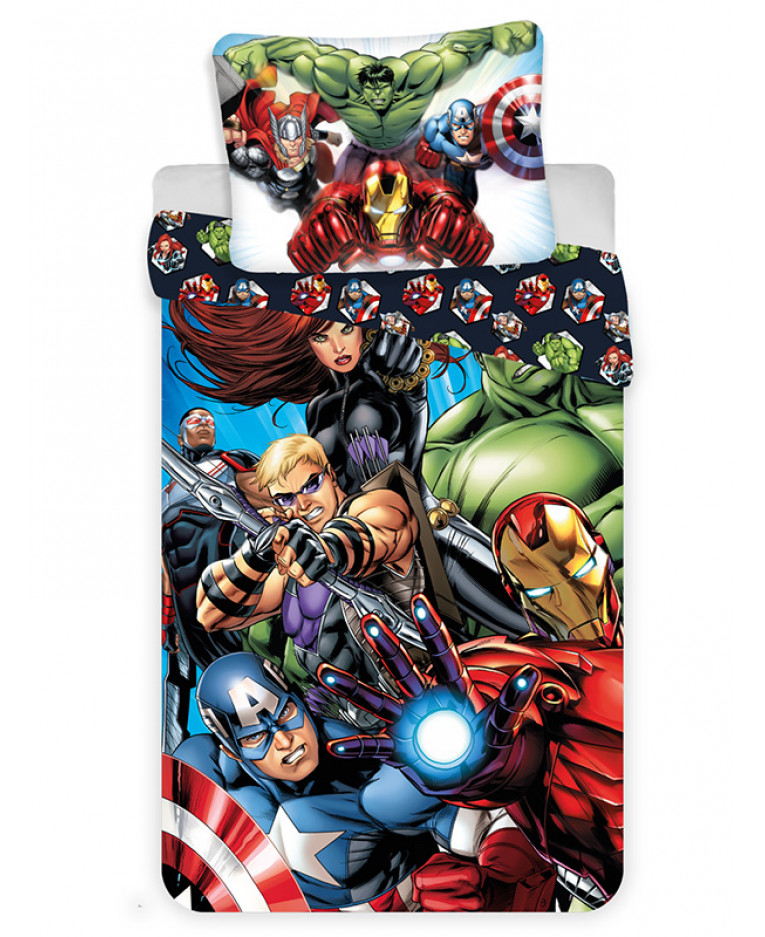 Copripiumino Avengers.Marvel Avengers Copripiumino E Set Di Federa In Cotone Monocolore