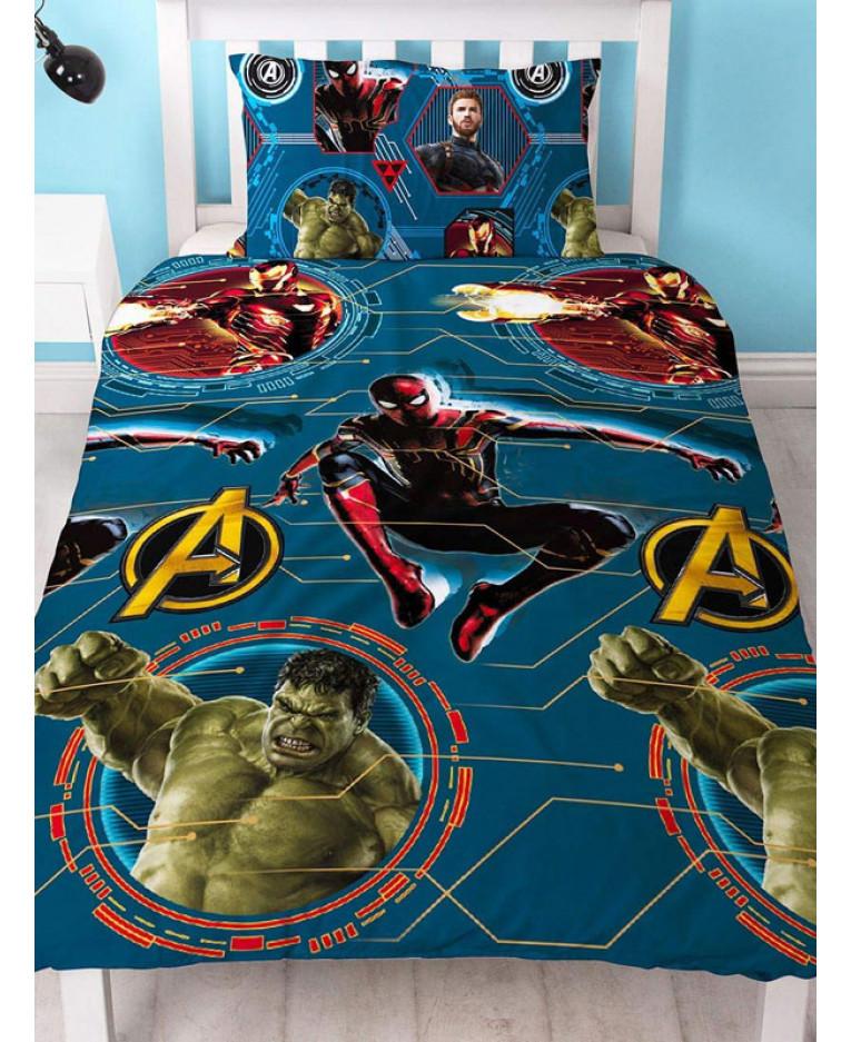 Copripiumino Avengers.Copripiumino Singolo Marvel Avengers Force