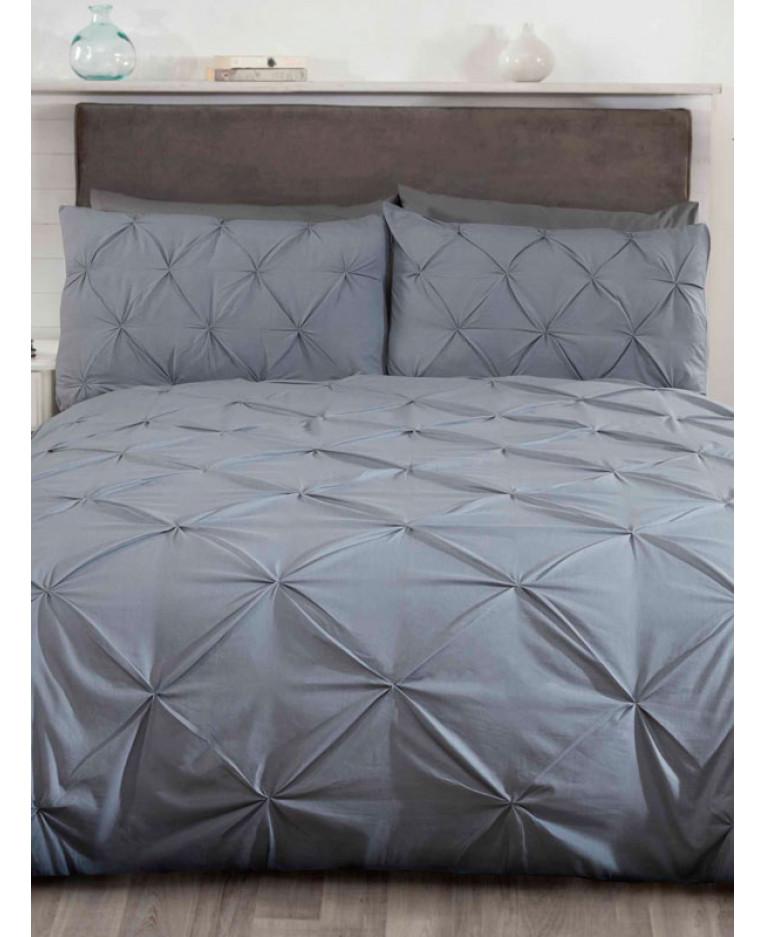 Double Duvet Set Balmoral White Quilt Cover /& 2 Pillowcases