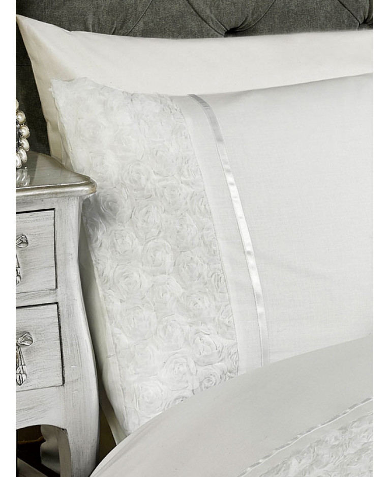 157246ae4339 Limoges Rose Ruffle Blush Pink Double Duvet Cover and Pillowcase Set