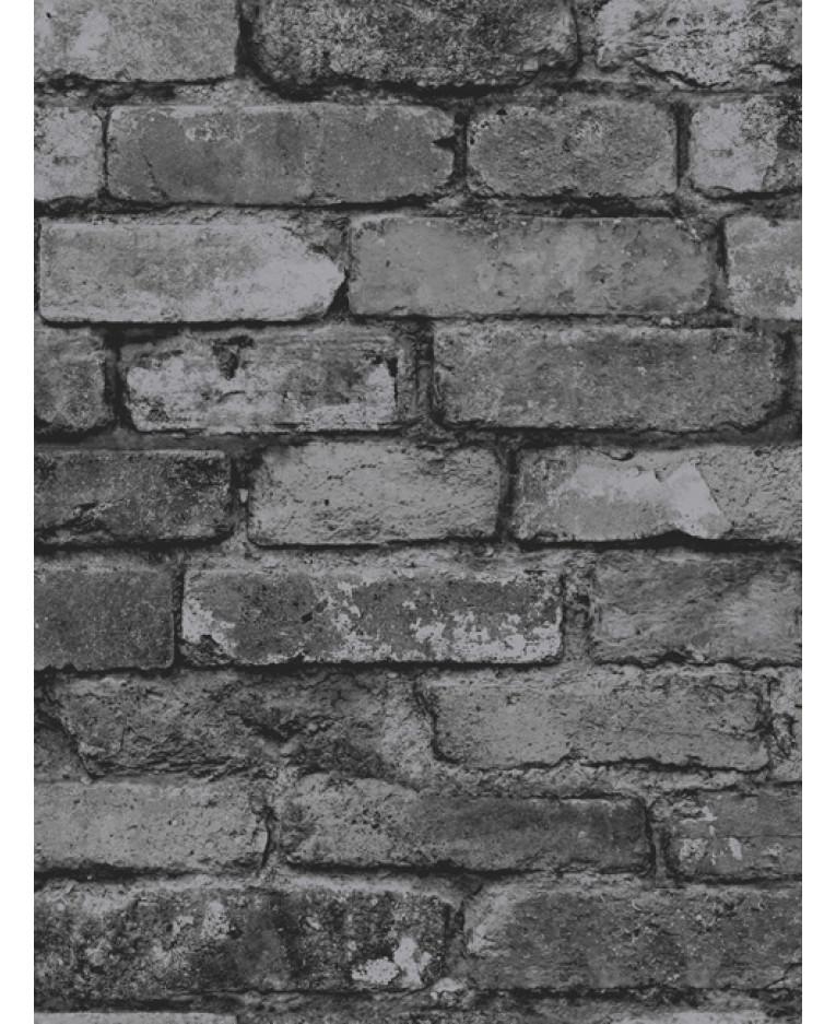 Charcoal Brick Effect Wallpaper Fine Decor Fd31284