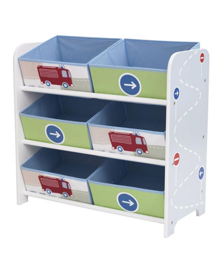 Boys Vehicles 6 Bin Storage  sc 1 st  PriceRightHome & Boys Vehicles 6 Bin Storage Unit