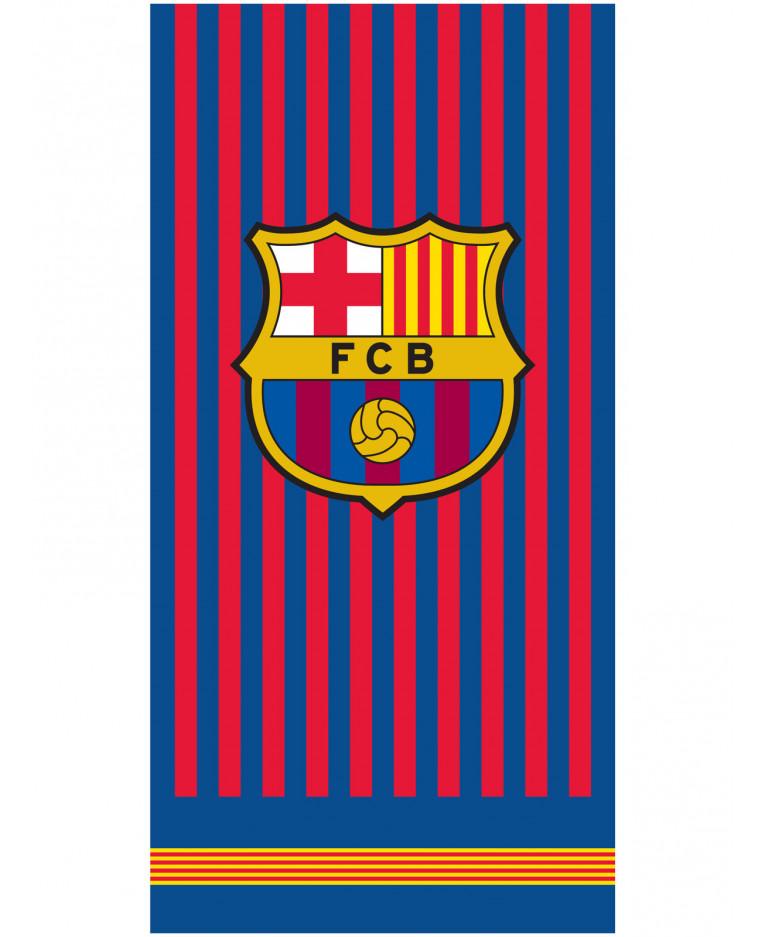 FC Barcelona Crest Stripe Towel