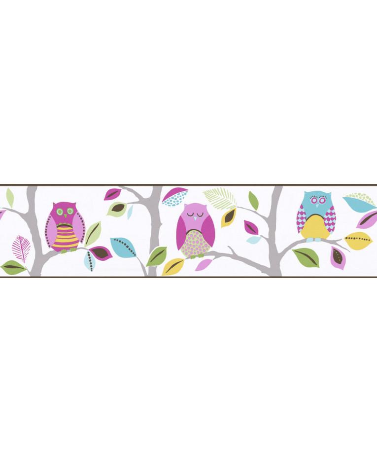 - Bright Owls Self Adhesive Wallpaper Border