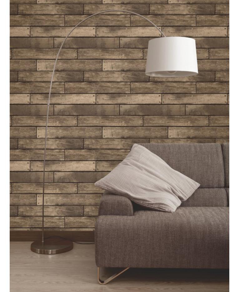 plank effect wallpaper