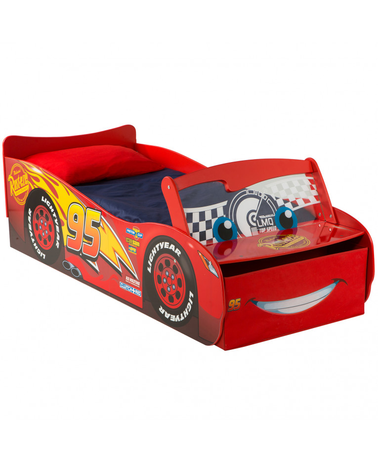 Disney cars 39 lightning mcqueen 39 feature toddler bed with - Letto saetta mcqueen ...