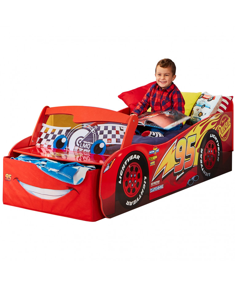 Disney Cars Lightning McQueen Feature Toddler Bed with Storage  sc 1 st  Pricerighthome : lighting mcqueen bed - azcodes.com