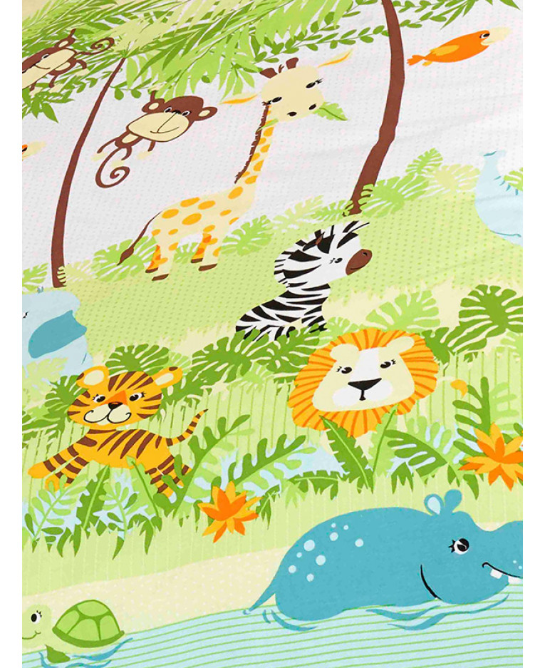 Jungle Boogie Lined Curtains With Tie Backs
