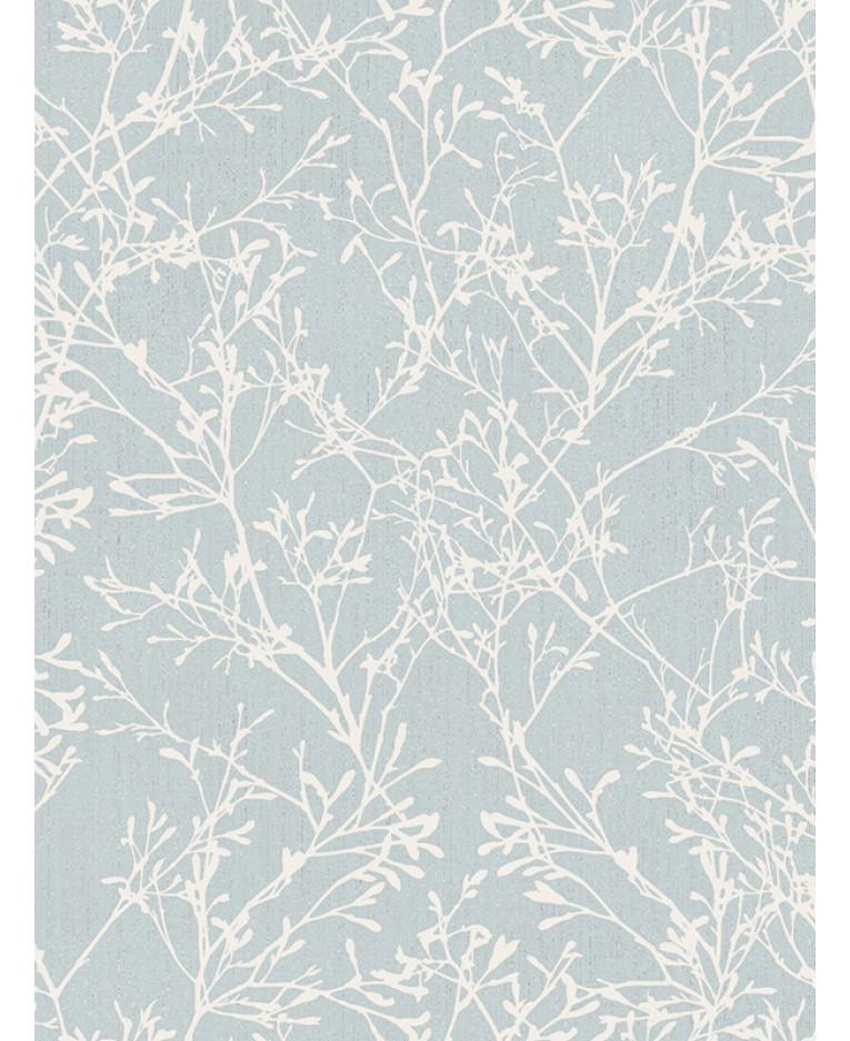 Fine Decor Tranquillity Tree Wallpaper Duck Egg Silver
