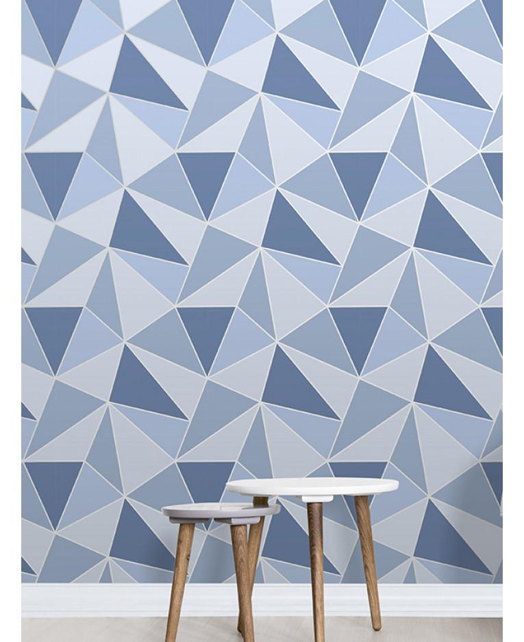 Apex Geometric Wallpaper Blue Fine Decor FD41992