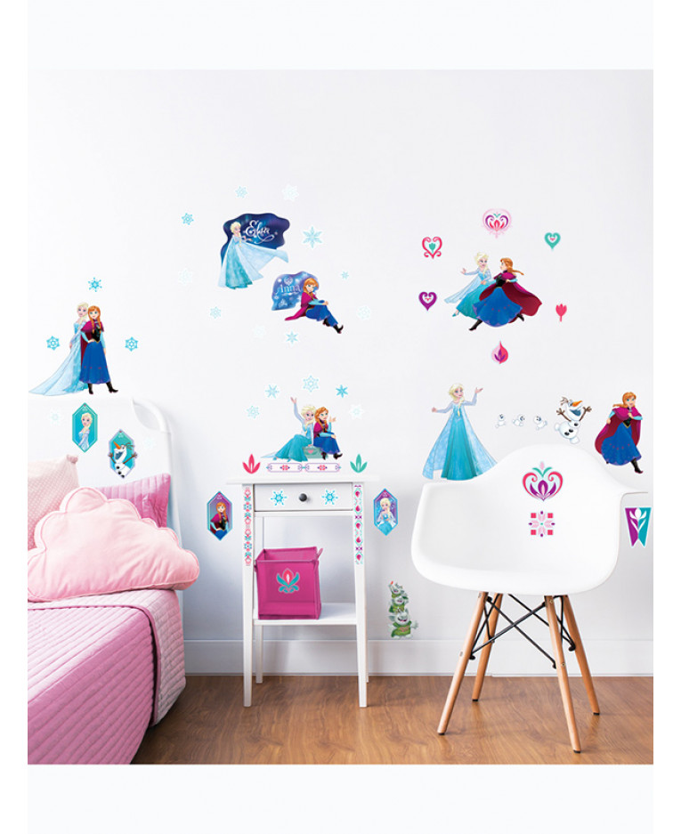 Walltastic Disney Frozen Room Decor Wall Sticker Kit Room Shot Part 18