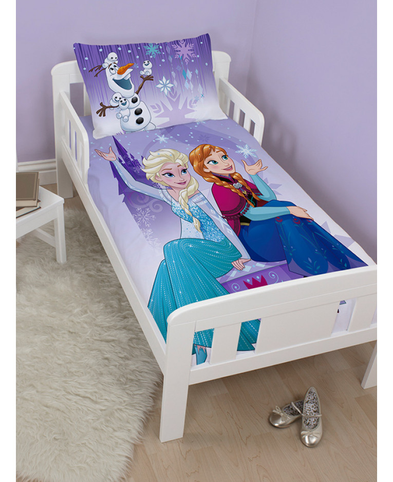 Disney Frozen Snowflake Junior Duvet Cover And Pillowcase Set