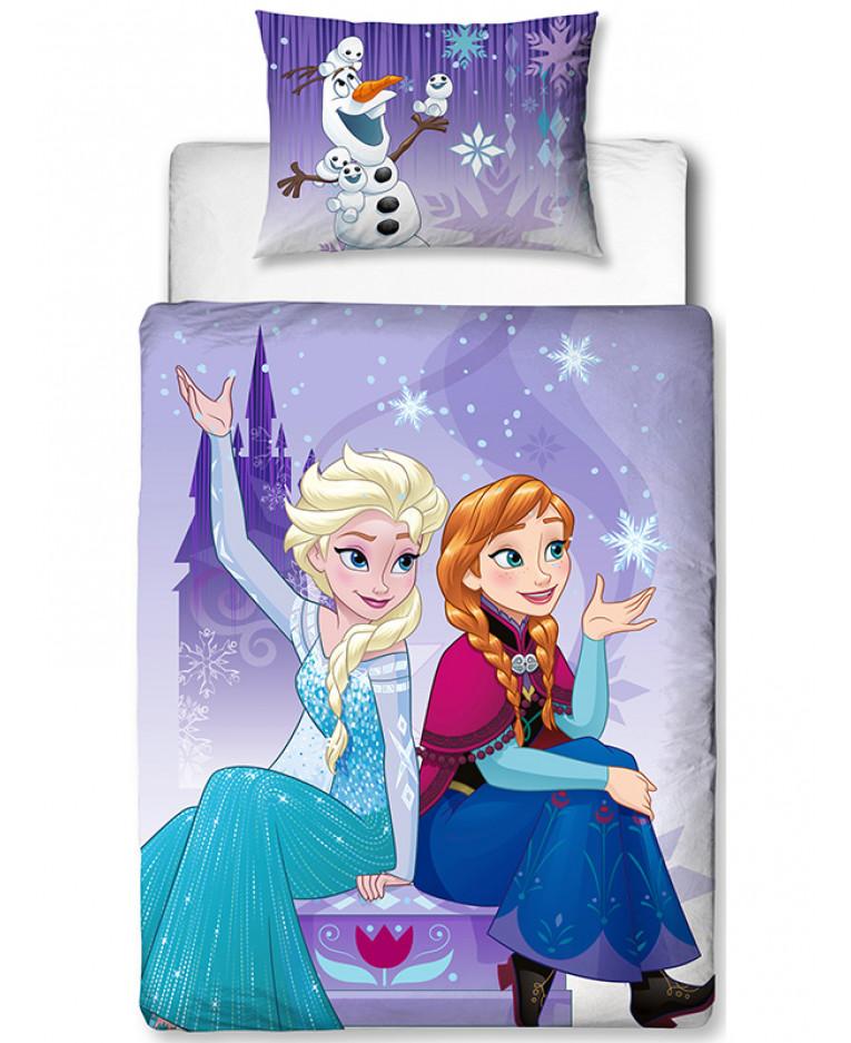 Disney Frozen Snowflake Junior Duvet Cover and Pillowcase Set