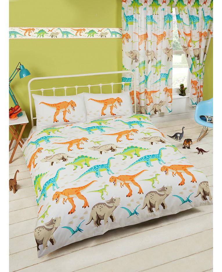 Dinosaur World Double Duvet Cover Bedding Bedroom T