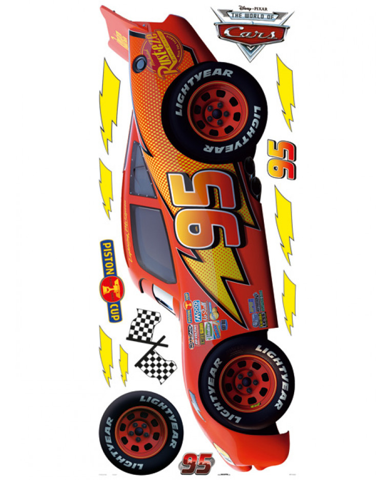 disney cars lightning mcqueen large wall sticker disney cars wall sticker