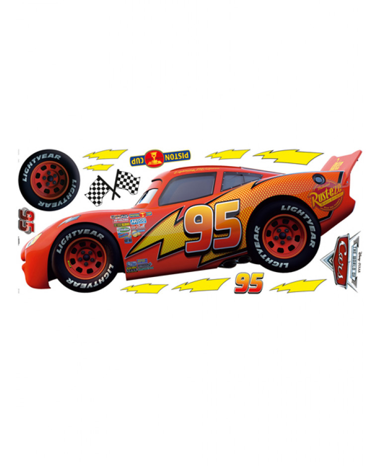 Disney cars wall mural stickers wall murals for Cars wall mural sticker